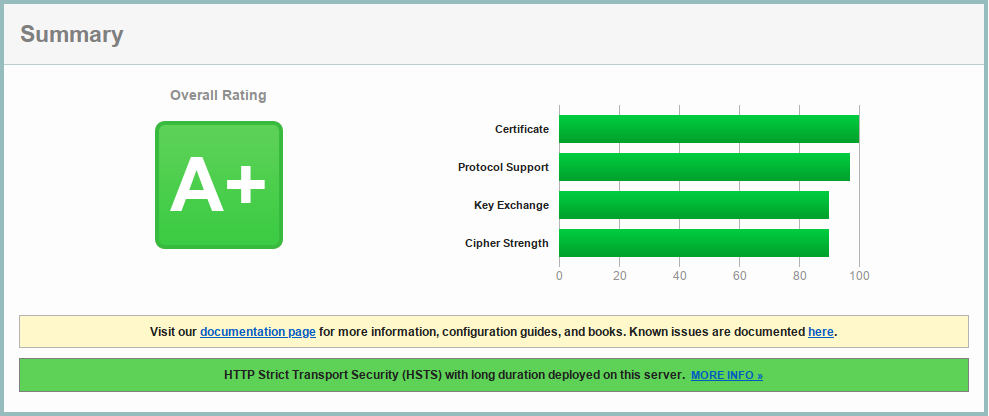 TLS Configuration for nginx to Get A+ in HTBridge and SSL