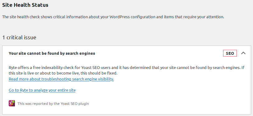 Your site cannot be found by search engines